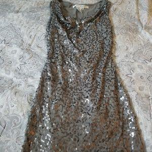 Steel Gray Sequin Dress